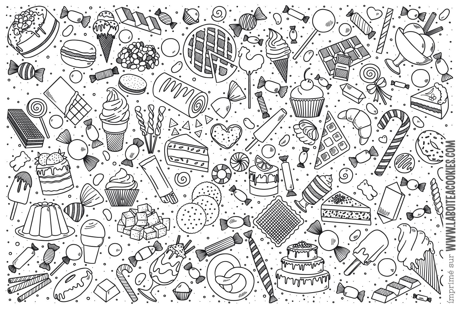 Coloriages Gourmands A Imprimer La Boite A Cookies