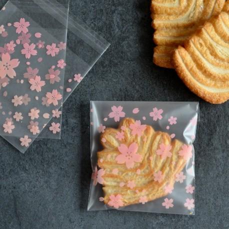 Sachets pour biscuits et confiserie - Fleurs Roses