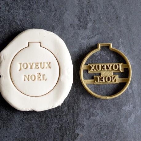 "Christmas ornament ""Joyeux Noël"" cookie cutter"