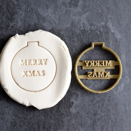 """Christmas ornament """"Merry Xmas"""" cookie cutter"""