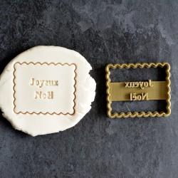 """Petit Beurre """"Joyeux Noël"""" cookie cutter"""