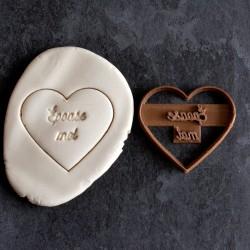 Épouse-moi heart cookie cutter