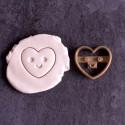 Kawaii Heart cookie cutter - XS