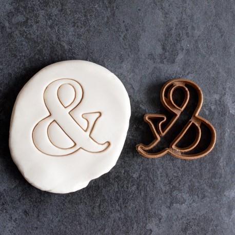 Ampersand cookie cutter