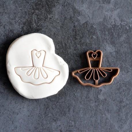 Ballerina dress - Dress cookie cutter