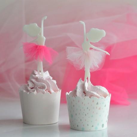 Décoration de gâteau Danseuse et tutu - Cupcake Topper