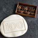 100 Numbers cookie cutter