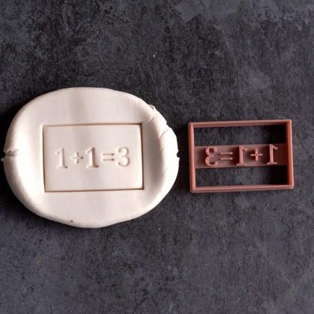 1plus1 make 3 cookie cutter