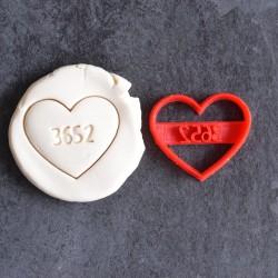 3652 days Heart cookie cutter