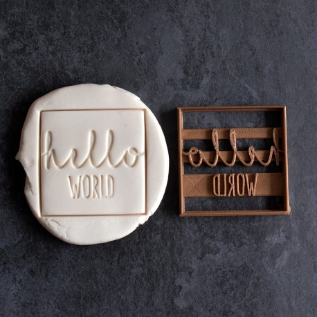 Emporte-pièce Hello World