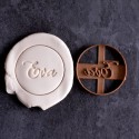 Circle custom cookie cutter Name - Personalized