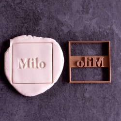 Square cookie cutter with name - Personalized