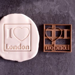 I Love London cookie cutter