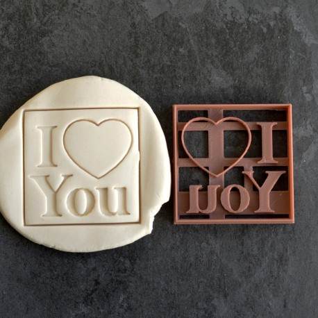 I Love You cookie cutter