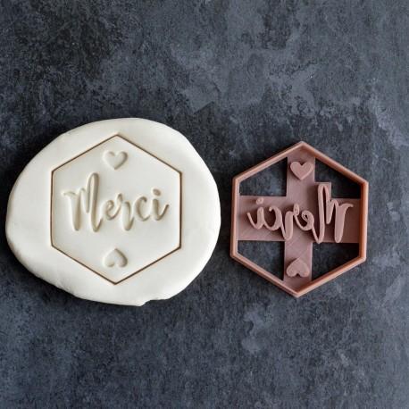 Merci cookie cutter - Hexagon