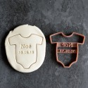Custom Onesie XL cookie cutter with name