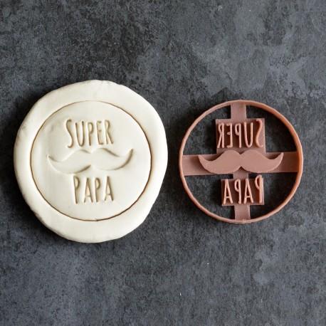 Super Papa cookie cutter - Mustache