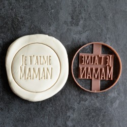Je t'aime Maman cookie cutter