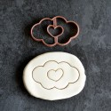 Cloud and Heart cookie cutter