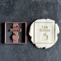 Square Apple cookie cutter with name - Personalized
