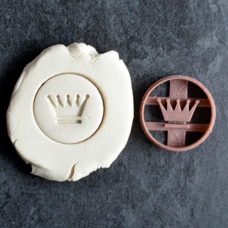 Crown Circle cookie cutter