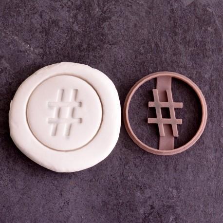 Hashtag Round cookie cutter