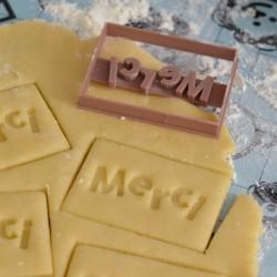 Merci cookie cutter - Rectangle