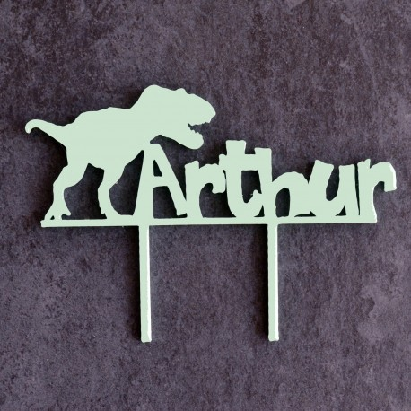 Custom Dinosaur Cake Topper - Cake Topper with name Dinosaur