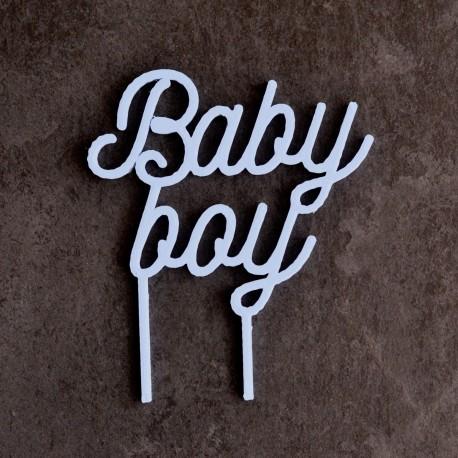 Baby Boy Cake Topper - Babyshower Cake Topper