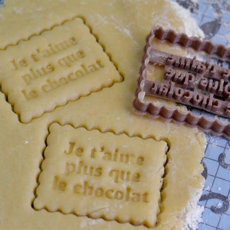 """Petit Beurre """"Plus que le chocolat"""" cookie cutter"""