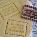 Emporte-pièce Petit Beurre Je t'aime plus que le chocolat