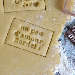 """Un peu d'amour"" cookie stamp and cutter"
