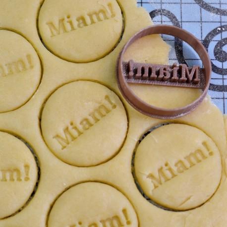 Miam Circle cookie cutter