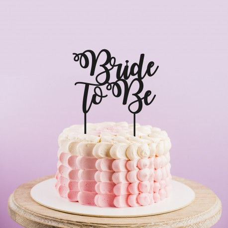 Bride to Be Cake Topper Letters - Wedding Cake Topper