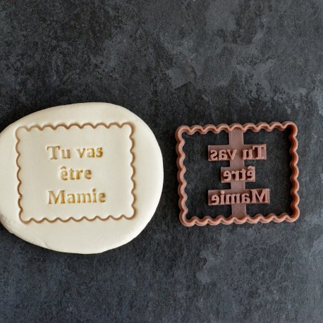 Emporte-pièce Petit Beurre Tu vas être Mamie