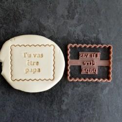 """Petit Beurre """"Tu vas être Papa"""" cookie cutter"""