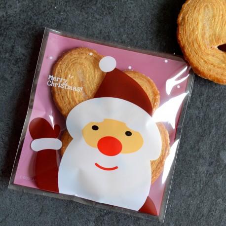 Sachets pour biscuits et confiserie - Père Noël V1