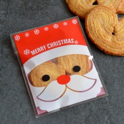 Sachets pour biscuits et confiserie - Père Noël V2