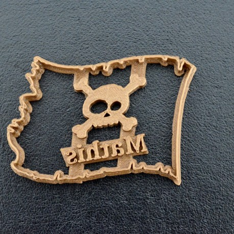 Custom Pirate flag cookie cutter with name