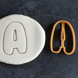Aplhabet cookie cutter - 3 cm