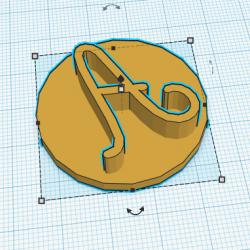 Tampon Lettre Alphabet 3 cm