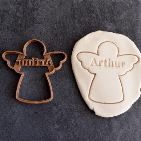 Custom Angel cookie cutter with name