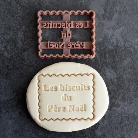 "Petit Beurre ""Biscuits du Père Noël"" cookie cutter"