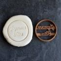 Joyeuses fêtes cookie cutter - Circle 6cm