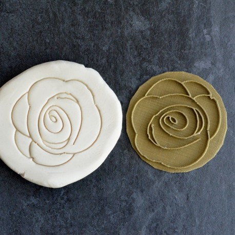Tampon à biscuit Rose