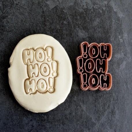 """Christmas """"Ho! Ho! Ho!"""" cookie cutter"""