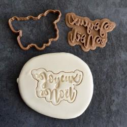 """Christmas """"Joyeux Noël"""" cookie cutter"""
