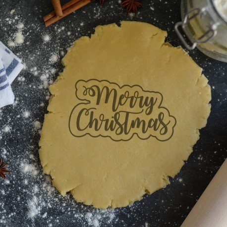 Merry Christmas cookie cutter