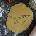 Paper Plane Origami cookie cutter