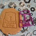 Bear cookie cutter - Personalized with name